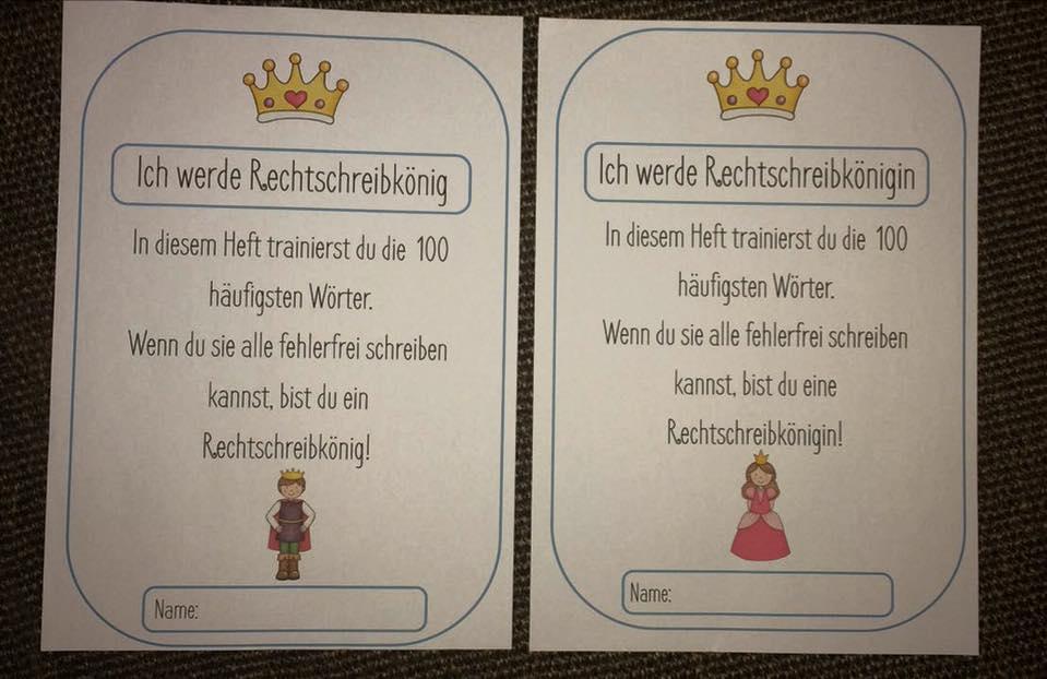 Rechtschreibkönig: Die 100 häufigsten Wörter – Rechtschreibtraining ...