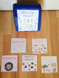 Bewegungsspiel zum Kennenlernen mit dem Taschen – Würfel