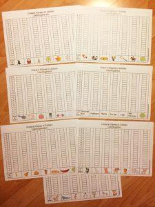 Säulendiagramme erstellen / einführen: Unsere Klasse in Zahlen
