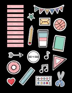 Anleitung: Sticker entpacken + einfügen